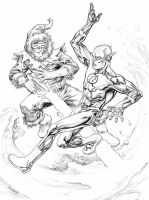 Flash vs Captain Cold by TomRaney