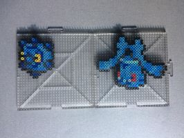 #436-#437 Bronzor and Bronzong Perler