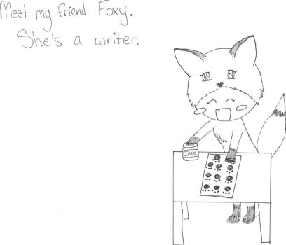Foxy the Writer by Rannsong
