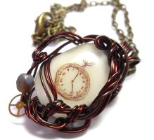 Clockwork Necklace by sojourncuriosities