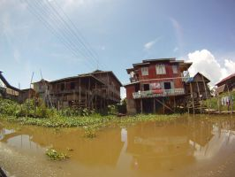 House on the Inle Lake by Nuocmam00