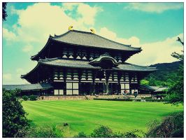 Japanese temple by CerridwenDoll