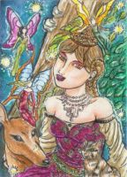 The Fairies' Forest (ACEO) by Keyshe54