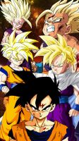 DBZ Teen Gohan all forms by Nakaso