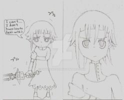 Crona sketches by SkyHighFae