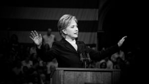 Hillary Clinton Speaks by Stanislavenko