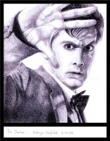 David Tennant as Doctor Who by KathyHaddy