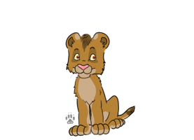 Adoptable lion cub by HappyDucklings