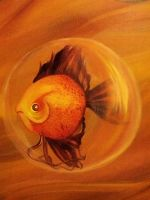 Angry Fish in a Bubble by Synferi