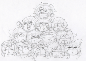 WIP: DOG PILE 8D ! by Ask--Miki