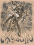 Chrysalis gray scale markers on Tan paper by andypriceart