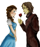 Rumplestiltskin and Belle by WillowingTrees
