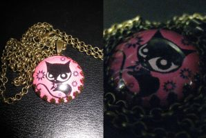 Doom Kitty Necklace by AmandaBelle