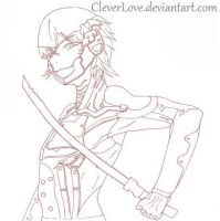 MGS4 Raiden lineart by CleverLove