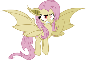Corrupted Fluttershy (Batrage) by Osipush