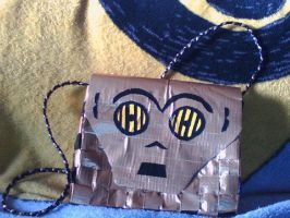 C3PO Duct Tape Purse by UnderCoverCottonswab
