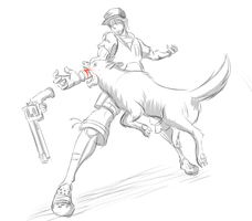 Stanley fights a Wolf (yes he wears Crocs) by theycallhimcake
