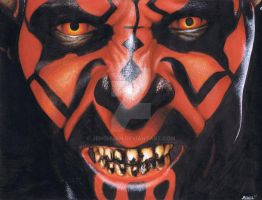 Darth Maul full color 9x12 by jenchuan
