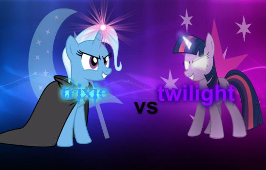 Trixie Vs Twilight desktop Wallpaper by volteon999
