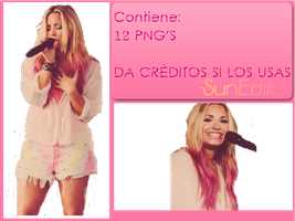 Pack PNG-Demi Lovato by SunEdiits