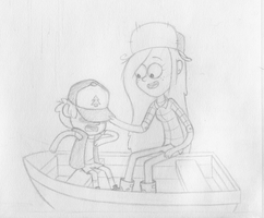 Dipper n' Wendy by MischiefLily