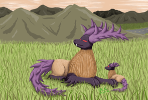 Raptor Elk Pixel Painting by Tikara-the-Mew