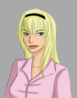 Gwen Stacy Sketch by TheCatlady