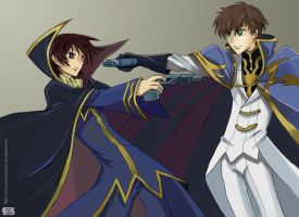 Geass-Lelouch vs. Suzaku by CrimsonLunacy