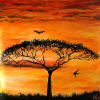 African Sunset by MadKreem