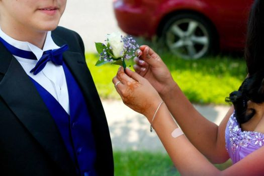 Boutonniere and a Band-aid by SkyMistle214