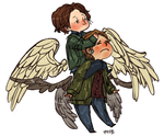 spn: sam and gabe by Suu-mon