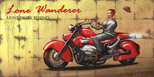 Motorcycle Advert Billboard - Fallout 4 by PlanK-69