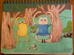 Request from a friend: Finn and Jake by Linnlynn