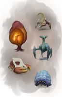 Creature sketches 2 by Torqbow