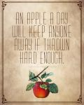 An Apple A Day by ThatsWhatSheSaidART