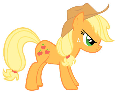 Angry Applejack by DWeegee
