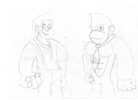 Wreck it Ralph and Donkey Kong by LugiaboyThePony