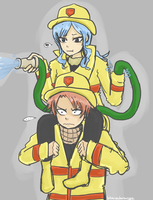 Fairy Tail Fire Department by blamedorange