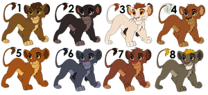 Lions Cubs Adoptables - CLOSE by kiralebia
