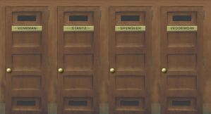 Ghostbusters Playset lockers by jhroberts