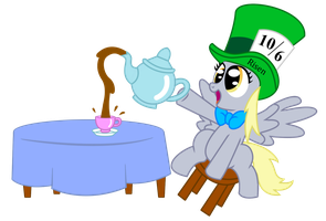 Derpy's Tea Party by VincenttheCrow