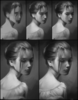 Portrait Practice 5 Process by AaronGriffinArt