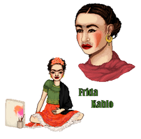 Frida Kahlo by FallingThroughGlass