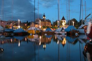 Night Harbor 98077 by StockProject1