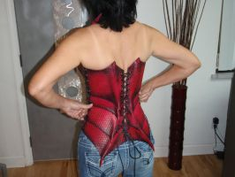 Female Dragon Corset back by Red-Dragon-Lord