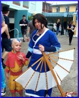 On site with Aang and Katara by ToastedKeeda