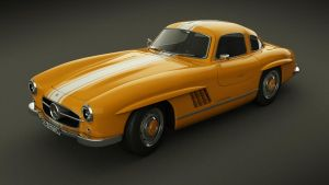 Mercedes-Benz 300 SL studio by Mandeologul