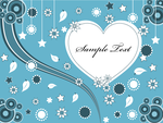 Lovely Valentine Heart Greeting Card Vector by 123freevectors
