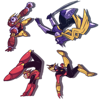 Robot Master Poses by icespicespace