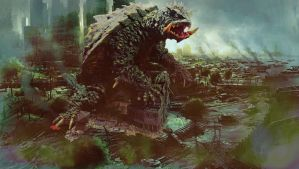Kaibutsuya Nightmare Gamera Photoshop by Wogzilla by Legrandzilla